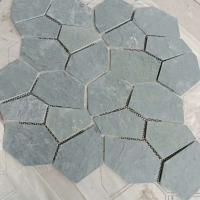 室外铺地青石板材 冰裂纹碎拼文化石板