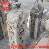 青石仿古做旧拴马柱 广场寺庙石龙柱 纪念石雕柱子