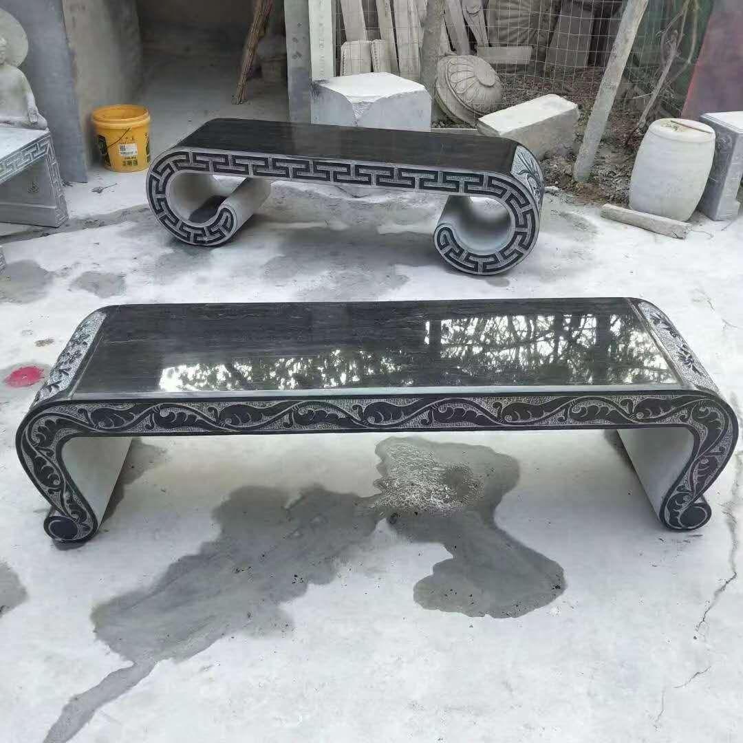 庭院石桌石凳图片