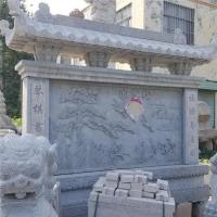 浮雕壁画石雕背景墙迎门墙学院文化墙青石九龙壁