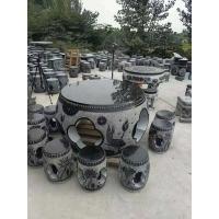 加工定制石桌石凳 异形雕刻圆桌棋牌石桌子石凳子