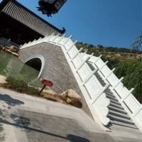 石雕漢白玉欄桿扶手欄板公園石拱橋園林流水小石橋