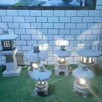 石雕青石仿古做舊石頭燈工藝品日式太陽能石燈
