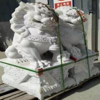 石狮子价格 石雕狮子花岗岩大门口青石狮子一对