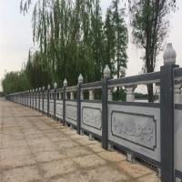 石欄桿加工定制 石雕石柱欄板 圍欄石欄板雕刻