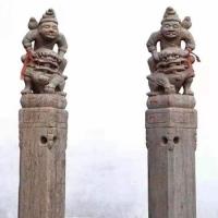 石雕拴马桩 青石仿古做旧十二生肖动物拴马柱