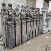 拴马桩石雕 仿古青石十二生肖四神兽中式拴马柱加工