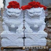 石雕动物汉白玉狮子青石狮子一对门口石雕狮子加工