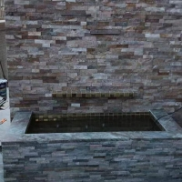 不规则石材 乱型条院墙外墙花园别墅文化石板岩