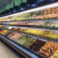 水果风幕柜定做水果保鲜柜 2.5米水果柜价格