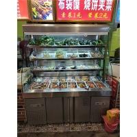 郑州2米麻辣烫柜价格 麻辣烫展示柜点菜柜定做