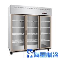 河南郑州立式冷藏柜市场 带门串串水果展示柜玻璃门保鲜柜