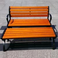 定做室外景观休闲坐椅铸铝/铸铁金属休闲椅