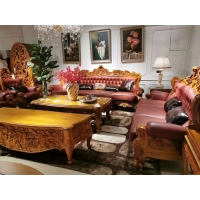柚木进口沙发