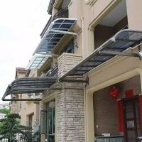 耐力板铝合金雨棚-耐力板露台棚-pc板阳光房