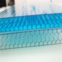 12mm透明蜂窝阳光板-遮阳效果好的聚碳酸酯蜂窝板