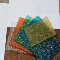 5毫米颗粒板-钻石颗粒耐力板商家-透明荔枝纹PC耐力板