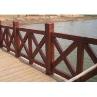 蘭州防腐木棧道木圍欄