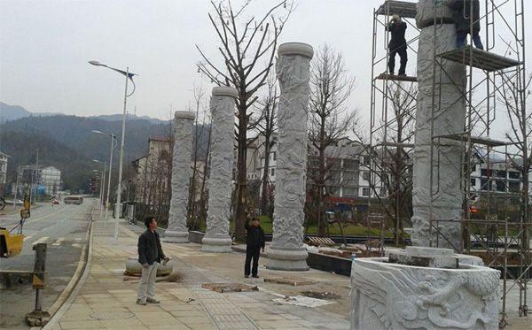 重庆石雕厂家/文化柱雕塑柱/重庆石雕工厂