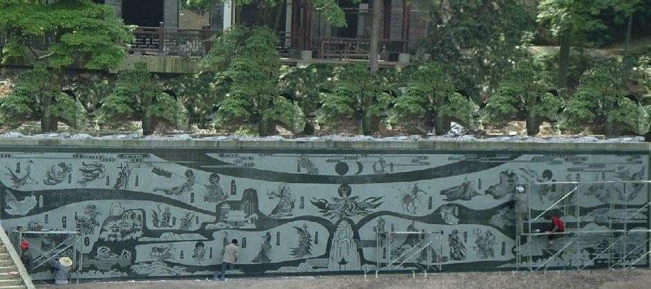 景区壁画艺术/墙面壁画艺术