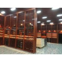 新款酒庄实木酒架,红酒展示架,酒窖实木酒柜定制