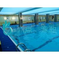 鋼結構泳池泳道的黑線的主要作用