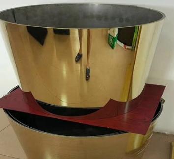 现货供应钛金镜面不锈钢板304不锈钢定做拉丝玫瑰金黑钛金装饰