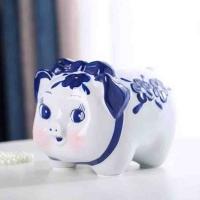 陶瓷存钱罐批发定做 儿童礼品陶瓷加工 景德镇陶瓷