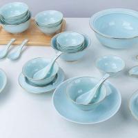 中式陶瓷餐具套装景德镇骨瓷餐具批发厂家
