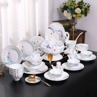 骨瓷餐具套裝景德鎮歐式禮品套裝碗盤碟定制生產廠家