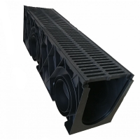 HDPE成品排水沟,200x250沟体+HDPE盖板