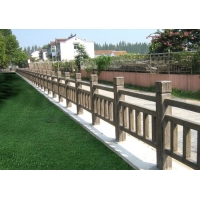 億錦河邊護欄,水庫欄桿,仿木圍欄柵欄