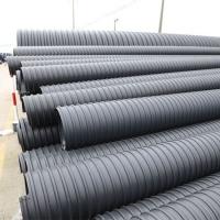 湖南豪企塑料管排污管HDPE钢带管增强管