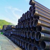 湖南豪企塑业HDPE双壁波纹管dn300排污管大量现货