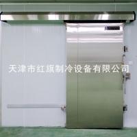 天津红旗JHD不锈钢电动冷库平移门 冷库保温门厂家