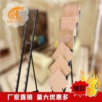 立式瓷砖展架 双面卡槽木地板展架 300*600陶瓷置物架