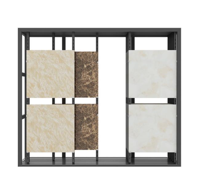 冲孔管展示柜 推拉式瓷砖展柜 瓷砖展示柜 瓷砖展示架