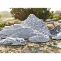 雪浪石切片组合泰山石景观石假山石原石造景墙室内枯山水庭院摆件