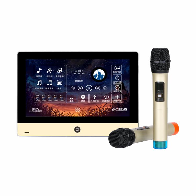 亿佳音供应家庭智能7寸背景音乐主机 语控K歌系统蓝牙WiFi