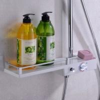 普菲思卫浴白色置物篮大淋浴三功能淋浴花洒套装