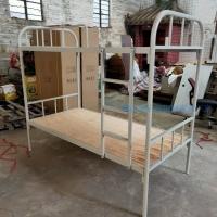 广州工地铁架床公寓圆管床批发圆管方管双层铁床卡扣式床