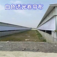 全新猪场卷帘保温PVC涂塑布 养殖场猪栏窗帘布