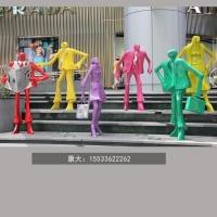 戶外人物景觀裝飾 大型抽象人物雕塑 不銹鋼廣場工藝小品