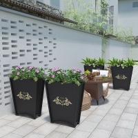 商業街室外鐵藝戶外花架花箱隔斷花槽落地扇形庭院種植花壇花盆