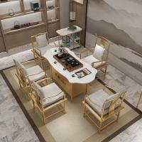 大理石茶桌椅组合新中式古典