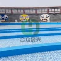户外戏水池 水波纹 游泳池胶膜 安装方法