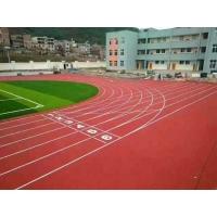 广东邦禾体育全塑型塑胶跑道 学校运动场田径场
