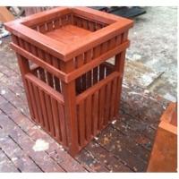 西安防腐木垃圾桶,碳化木垃圾桶,景观垃圾桶,实木垃圾桶