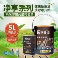 臣工净柚漆净享系列WNM-421纳米抗醛陶瓷漆5L装水性漆内