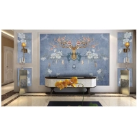 现代北欧美式风格麂鹿森林客厅卧室背景